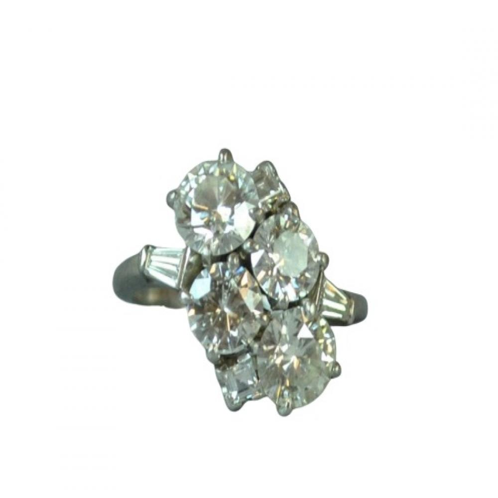 Platinum and Diamond Ring Size 8
