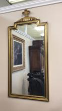 Large gilded antique wall mirror approximately