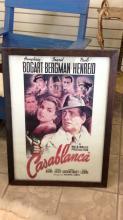 Casablanca framed movie poster lithograph