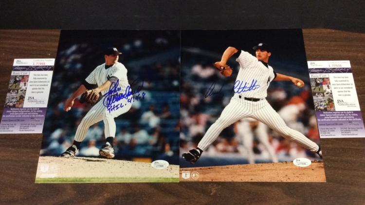 New York Yankees Andy Pettitte and John Wetteland