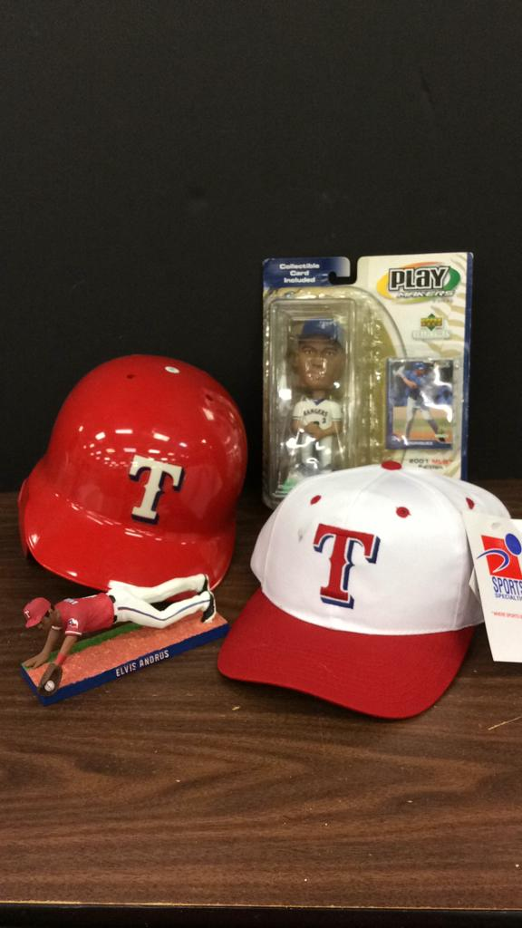Texas Rangers Helmet, New Hat, Elvis Andrus