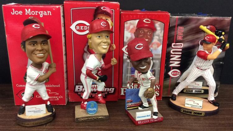 Cincinnati Reds Joe Morgan, Tom Browning, and