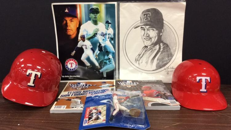 Texas Rangers Memorabilia-Includes Starting