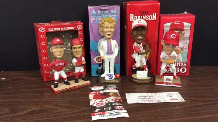 Cincinnati Reds Chris Sabo, Adam Dunn, Frank