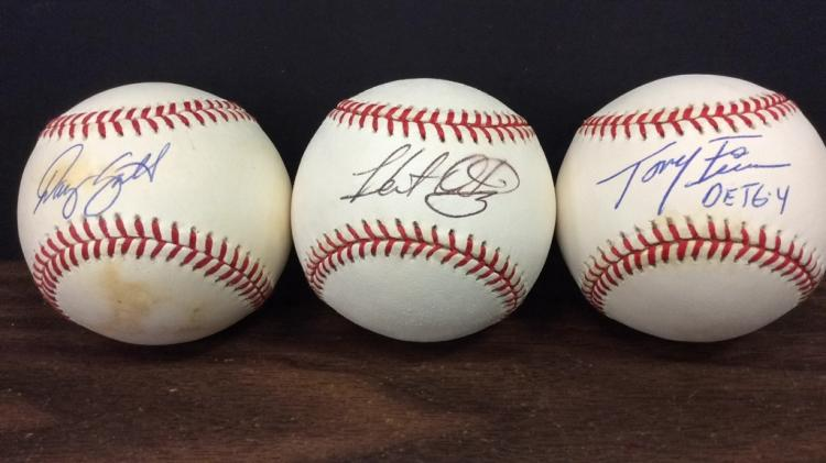 Dan Smith, Hector Ortiz, and Tony Fossas Signed