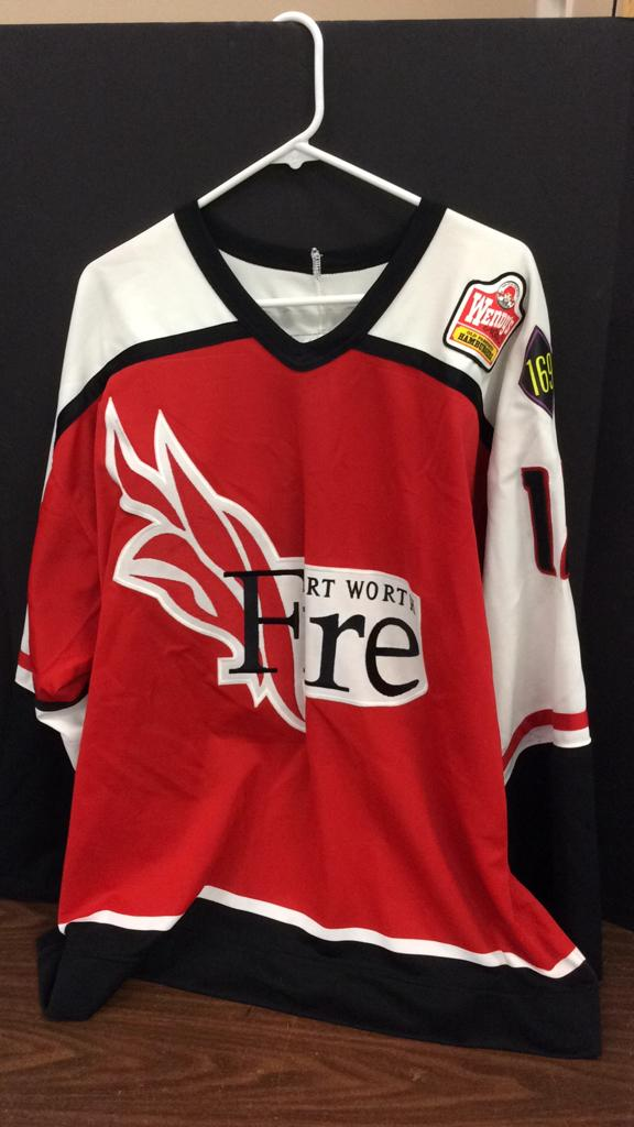 Fort Worth Fire Mike Sanderson #12 Signed Pro