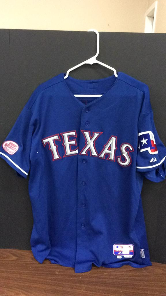 Texas Rangers Rich Harden #40 Game Used Spring