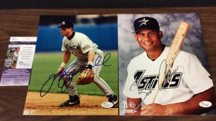 Jeff Bagwell and Bobby Abreu Signed 8