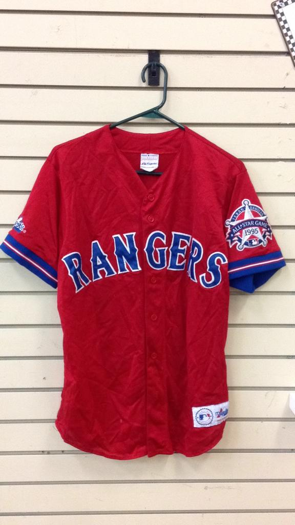 Texas Rangers All-Star game 1995 majestic jersey