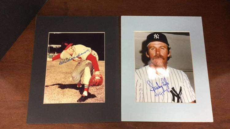 NY Yankees Sparky  Lyle and St. Louis Cardinals