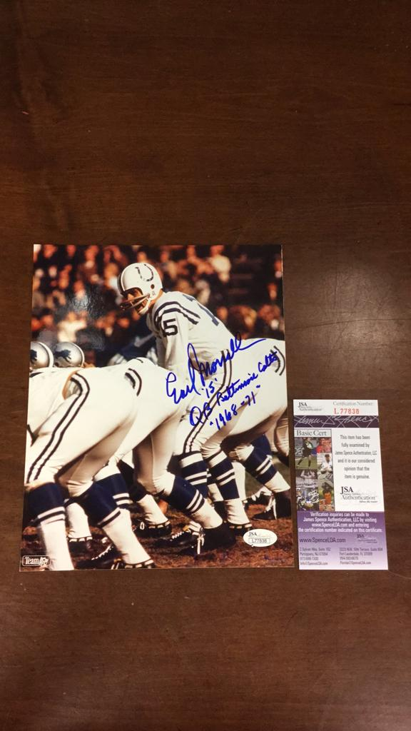 Baltimore Colts QB 1968-1971 Earl Morrall signed