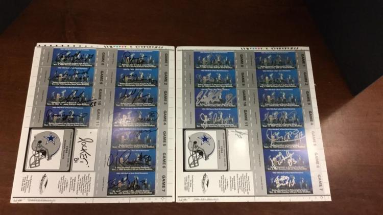 Dallas Cowboys 1994 signed Tickets-signatures