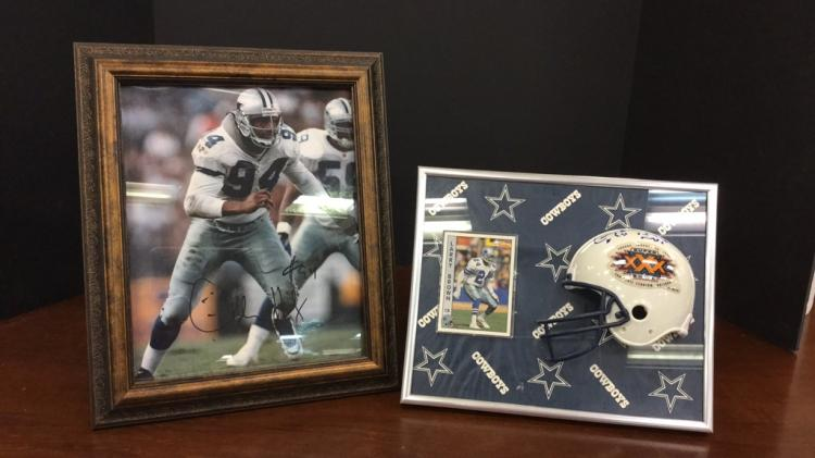 Dallas Cowboys #24 Larry Brown signed mini
