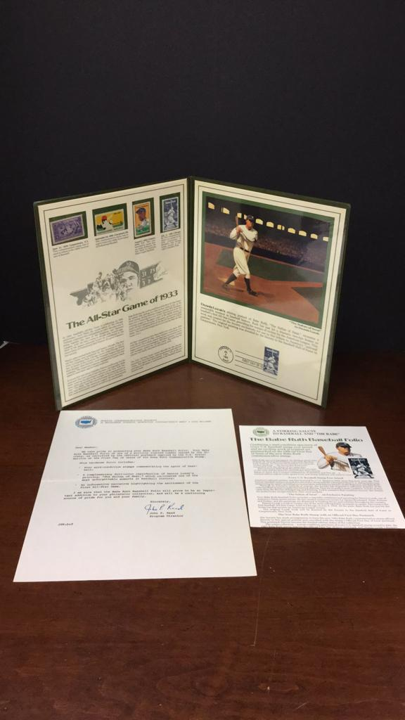 Babe Ruth limited edition Baseball Folio by the