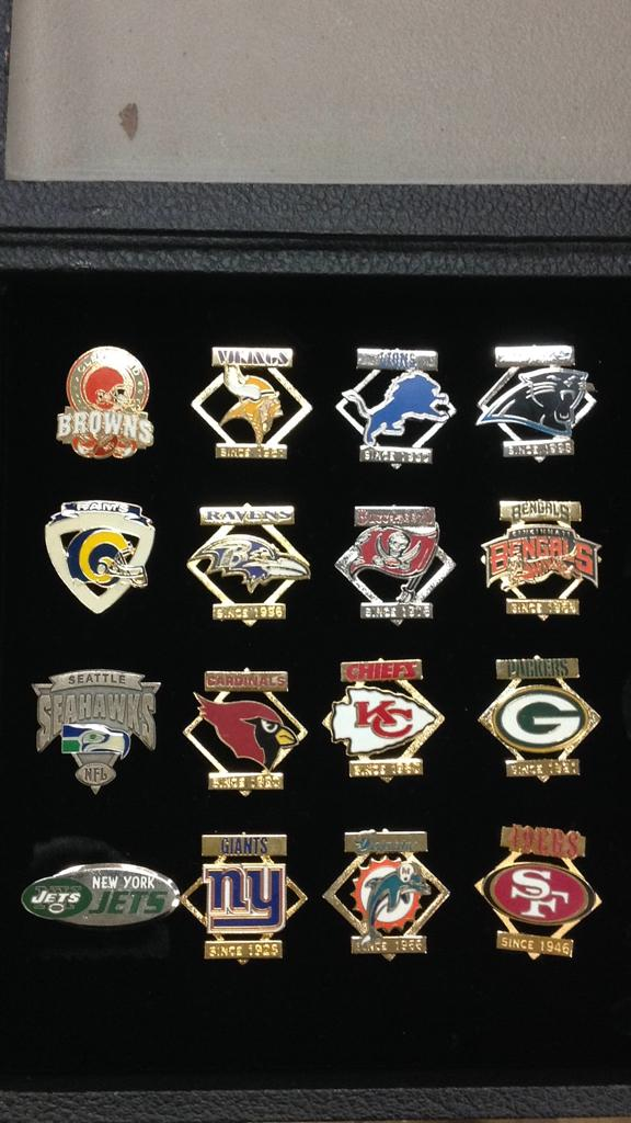 Selection of NFL team pins approximately 16