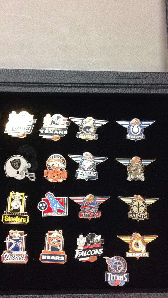 Selection of NFL team pins approximately 17
