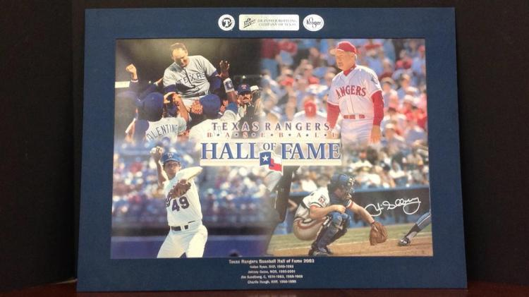 Texas Rangers Matted baseball hall of fame 2003