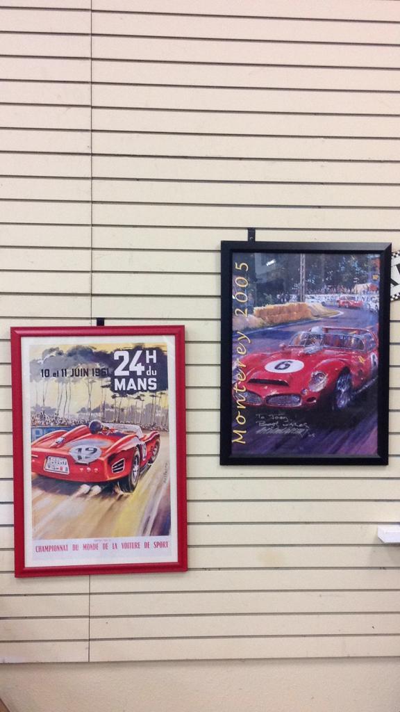 Beligono framed car print and Monterey 2005