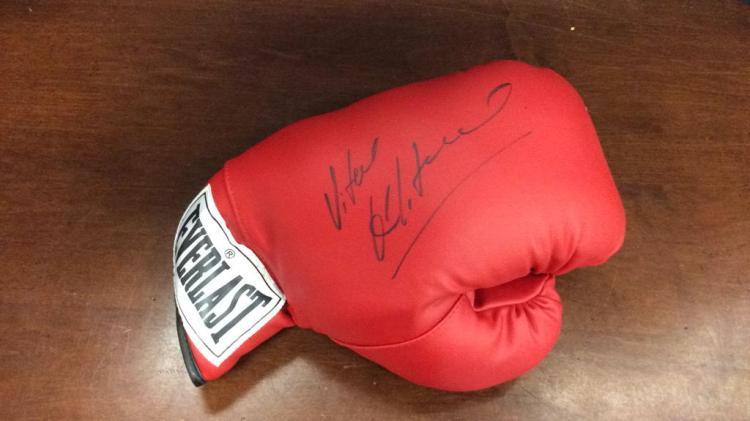 Signed Everlast Boxing Glove