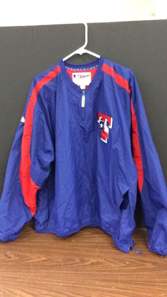 Texas Rangers Authentic Majestic Size XXL Jacket