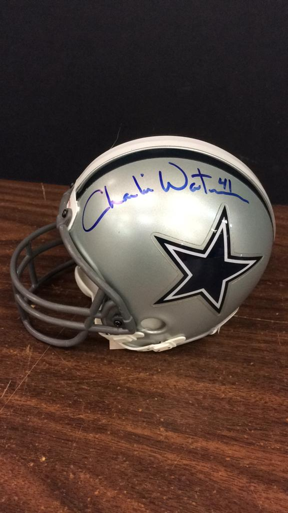 Dallas Cowboys Charlie Waters #41 Signed Mini