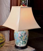 Chinese Famille Rose Jar Form Lamp