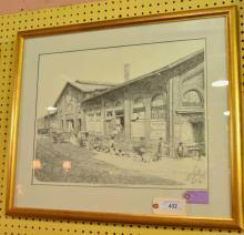 Savannah City Market Print