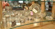 19 Pc Silver Overlay Depression Glass & Related