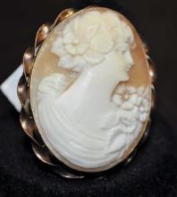 10kt Carved Shell Cameo