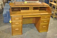 Wood Revival Desk Co. Roll top Desk