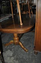 Oak Trestle Dining Table