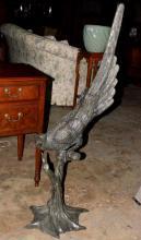 Bronze Parrot Sculpture