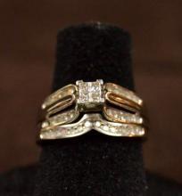 10k White Gold Diamond Engagement Set