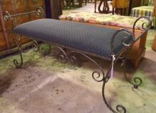 Wrought Iron Bed Bench