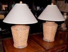 Basket Form Table Lamps