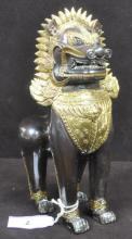 Thai Gilt Bronze Temple Dog