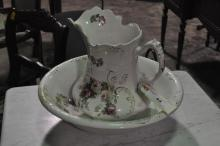 Semi-Porcelain Bowl and Pitcher