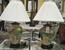 Pair of Porcelain Jar Form Lamps