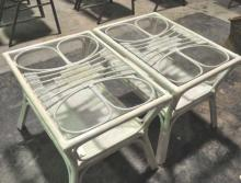 Pair of Rattan Side Tables