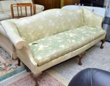 Fancy Chippendale Camelback Sofa