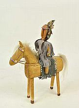 Native American Folk Art Warrior On Horseback
