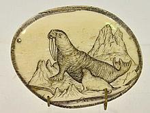 Early Scrimshaw Medallion