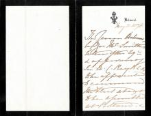 Queen Victoria (Great Britain) - Third Person Autograph Letter 05/31/1878