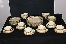 SERVICE FOR 6 DESERT ROSE BY FRANCISCAN ONLY 4 SOUP BOWLS - 34 PCS. - GOOD COND.
