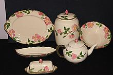 6 LOVELY SERVING PCS. OF DESERT ROSE BY FRANCISCAN - ALL MINT - MANY CHOICE PCS.