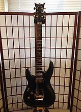 dean, floyd Rose guitar left-handed strung for right hander.