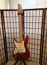 Kramer focus guitar left-handed strung for right-handed guitar player sell