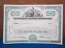 11 STUDEBAKER- PACKARD CORP. STOCK CERTIFICATES - JANUARY 3, 1961 - 2 ROTHSCHILD & CO. WITH CONSECUTIVE NUMBER FROM Y373254 TO Y 373264 - ALL IN MINT CRISP CONDITION ALL ONE WAY