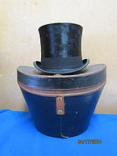 THE BEST TOP HAT J.A. SEIDL MUNCHEN WITH LINED  HARD CASE
