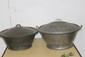 2 EARLY 1910 TIN TUBS ALL GOOD - NO DENTS - SOLID